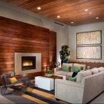 giả gỗ ốp tường phòng khách