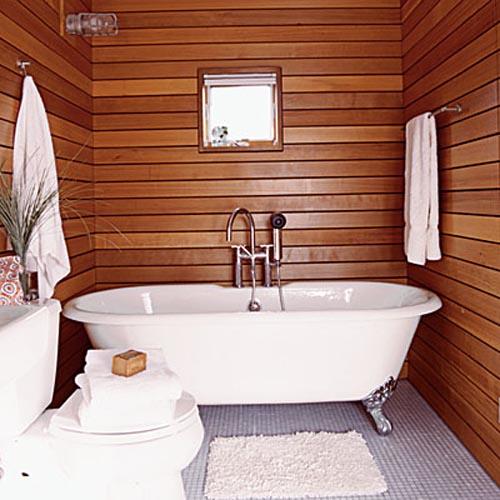 gỗ ốp tường phòng tắm