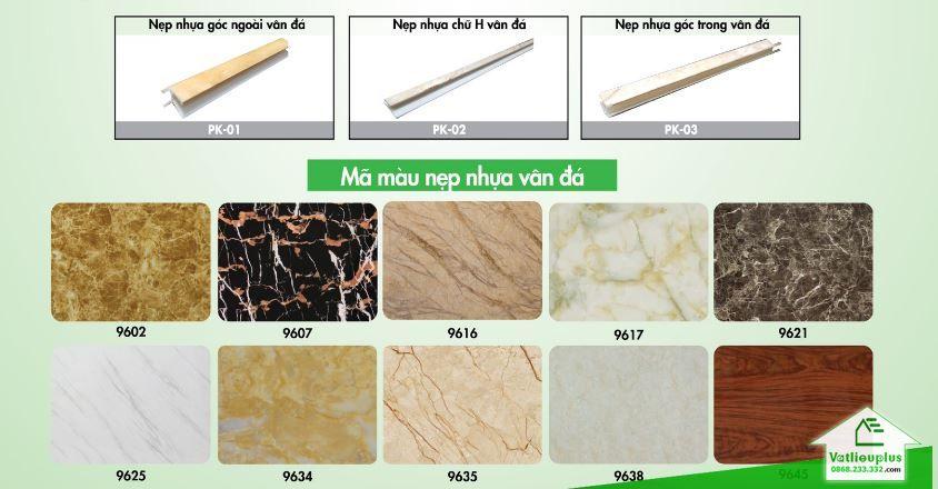 giá nẹp nhựa cho PVC vân đá