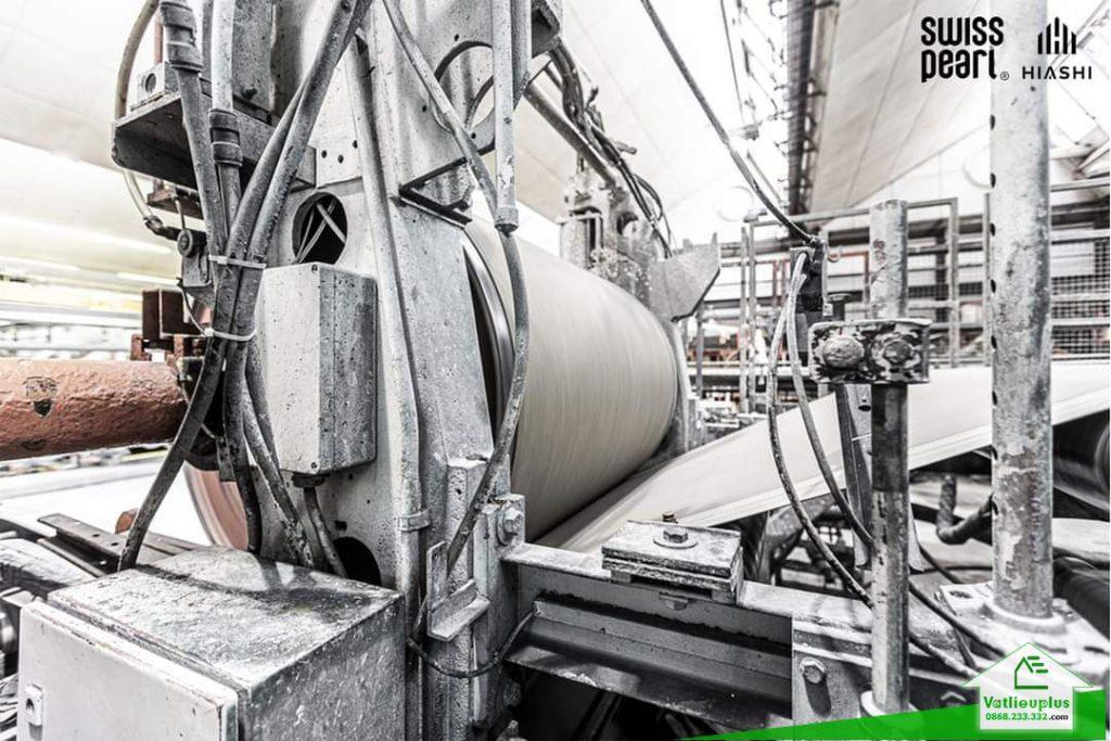 quy trình sản xuất tấm xi măng