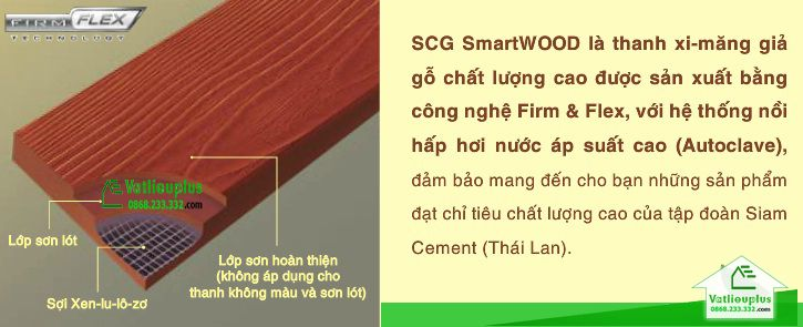 thanh xi măng giả gỗ SCG Smartwood