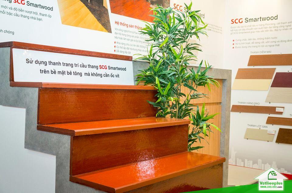 thanh xi măng giả gỗ ốp cầu thang